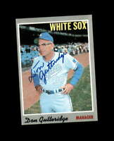 Don Gutteridge Hand Signed 1970 Topps Chicago White Sox Autograph