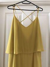 Mango Mustard Yellow Maxi Dress sz L