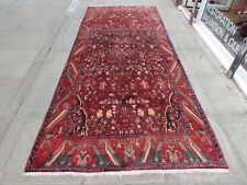 Vintage Hand Made Traditional Oriental Wool Red Long Corridor Rug 360x150cm
