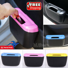 Universal Car Trash Can Garbage Holder Rubbish Dust Dustbin Storage Box Bin Hook