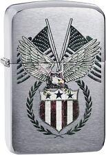 Zippo 2016 Catalog NEW 1941 Eagle Replica Flag Eagle Brushed Chrome 29093