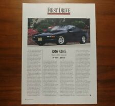 BMW 840Ci 8 SERIES E31 COUPE ARTICLE ROAD & TRACK THE ULTIMATE DRIVING MACHINE