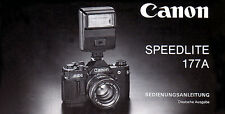 CANON SPEEDLITE 177A Camera Flash  Instruction Manual ENGLISH Original Edition
