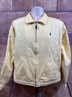 Polo By Ralph Lauren Full Zip 100% Cotton Yellow Jacket Men's Size L
