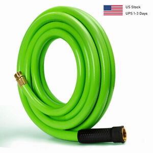 Kink Free Garden Water Hose 3/4,5/8 in. 10ft 25ft. Durable Heavy Duty Flexible