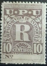 RARE 1899 Colombian 10c Registration Stamps  - MNH - Colombia