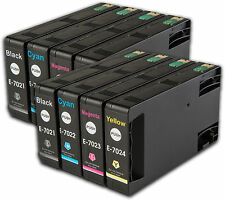 8 T702 non-OEM Ink Cartridges For Epson WorkForce Pro WP-4525DNF WP-4535DWF