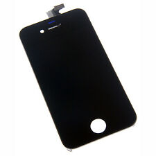 Black Digitizer Front Glass LCD Screen Full Assembly for iPhone 4S 4GS