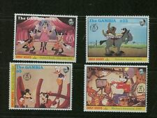 Gambia Disney Early Goofs 4 Mnh Stamps Goofy Animation