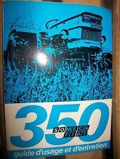 Someca Fiat tracteur 350 : notice utilisation 1971