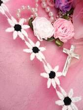 """C100 White and Black Daisy Sewing Trim 1"""""""