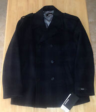 $395 MURANO KEAGAN Wool XL Charcoal Heather 6 BUTTON Jacket PeaCoat overcoat NWT