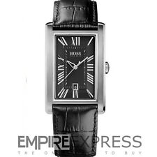 **NEW** MENS HUGO BOSS BLACK LEATHER STRAP CLASSIC  WATCH - 1512708 - RRP £159