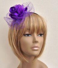 New Bespoke Cadburys Purple Fascinator Bride,Bridesmaid Wedding Prom Night Races