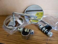 """NOS Vintage Chrome 7/8"""" Bar Clip On Mirrors Japan Cafe Racer Bobber M325 4"""""""