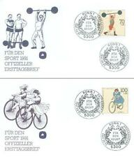 Germany 1991 FDC 1499-02  Sport Bike Bicycle Rower