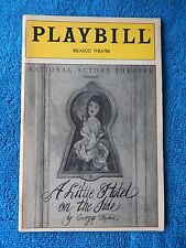 A Little Hotel On The Side - Belasco Theatre Playbill w/Tickets - February 1992