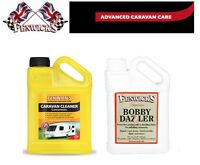 Fenwicks Caravan Cleaner 1lt and Bobby Dazzler Polish 1L Twin Pack