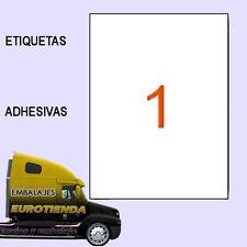100 ETIQUETAS ADHESIVAS 297X210 mm 100 HOJAS A-4 EH1  IMPRESORA ENVIOS ETIQUETAS