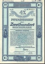 Ostpreussischer Landschaftlicher Pfandbrief 200 RM - Königsberg 1942