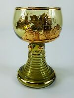 Vintage BAD GODESBERG GERMAN Etched Glass Goblet Glass