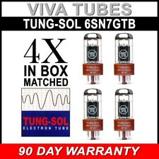 New Gain Matched Quad (4) Tung-Sol Reissue 6SN7GTB Vacuum Tubes 6SN7 6SN7GT