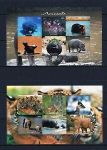 MALAWI 2012 ANIMALS WILD NATURE FAUNA STAMPS 2 BLOCKS IMPERF MNH