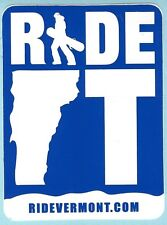 RIDE VERMONT SKI SNOWBOARD RESORT AREA STICKER DECAL