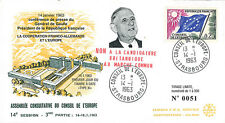 """CE14-III-T2 FDC Council of Europe """"DE GAULLE says NO to British membership"""" 1963"""