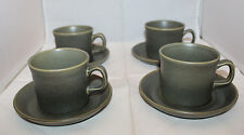 Wedgwood Greenwood Coffee Tea Mug Cup Saucer Set of 4 Vintage Made in England