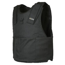 Light Weight Concealed Body Armor Bullet Proof Black Vest (L) NIJ level IIIA 3A