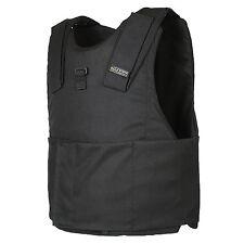 Light Weight Concealed Body Armor Bullet Proof Black Vest (L) NIJ level IIIA 3A