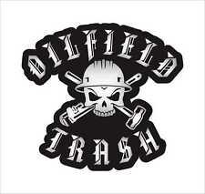 OILFIELD TRASH SKULL&TOOLS Hard Hat Sticker Decal Waterproof