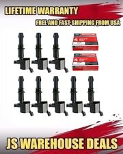 Set of 8 Ignition Coils DG511 & SP515 Motorcraft Spark Plugs For Ford Lincoln