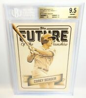 2016 Topps Bunt Corey Seager RC The Future 5X7 GOLD 10/10 Last One RARE BGS 9.5!