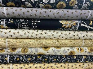 Deb Strain for Moda 'Bee Grateful' 100% Cotton Fabric by 1/4 Metre* or Panel
