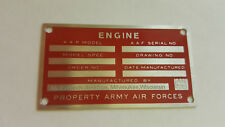McCulloch-Aircraft-Drone-Engine-Data-Plate-Acid-Etched-1940s - 1950s