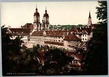 St. Gallen. Kloster St. Gallen.  PZ vintage photochromie,  photochromie, vinta