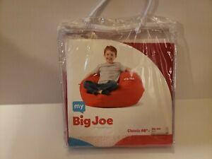 "Red Bean Bag Shell -  My Big Joe Kids' Classic 98"" Red Bean Bag Chair Cover"