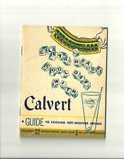 Amazing 1935 Art Deco: Clear Heads Cool Off With Calvert Cocktail Recipe Book