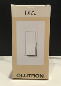 NIB LUTRON DVELV-303P-WH 300-Watt DIVA Electronic Low Voltage 3-Way Dimmer White