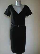 HOLLY WILLOUGHBY Black Pencil Wiggle Dress Size 8  NEW
