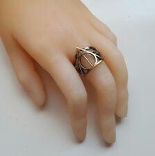 BELLISSIMO Anello in bronzo doni della morte. RON/Hermione/Harry Potter/Silente