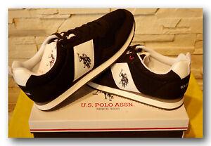 U.S.Polo Assn. Herrenschuhe Sneaker Schnürschuh * EXTE NOBIL * Black  Gr.45 UK10