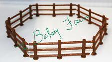 WESTERN WOOD GRAIN BROWN FENCE PANELS CAKE TOPPER DECORATION PARTY  6 PC SET