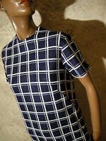 CHIC VINTAGE ROBE JERSEY 1960 VTG DRESS 60s KLEID 60er ABITO RETRO (40/42)