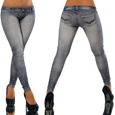 Womens Ladies Low Waisted Skinny Fit Jeans Stretch Denim Jegging Trousers Pants