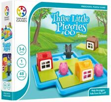 Smart Games Three Little Piggies Deluxe Preschool Puzzle Game 3-6 Years BOOK NEW