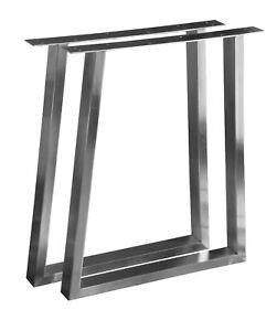 T-Tischkufe Tischgestell Edelstahl 201 60x30 Trapez Rahmentisch Kufengestell