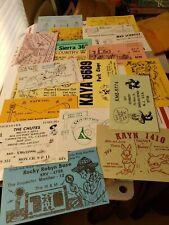 Vintage QSL CB Ham Radio Swap Club Cards Postcards Lot